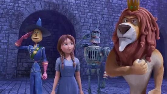 Scarecrow, Dorothy, Tin Man dan Lion