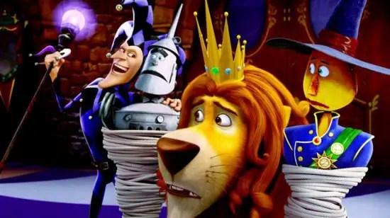 Tin Man, Lion dan Scarecrow pun turut ditangkap oleh The Jester
