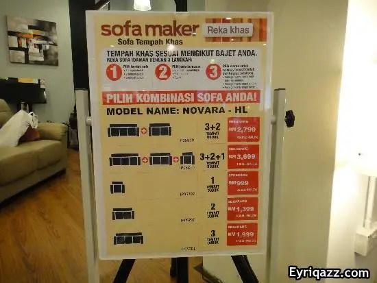 Cara-cara menggunakan aplikasi Sofa Maker