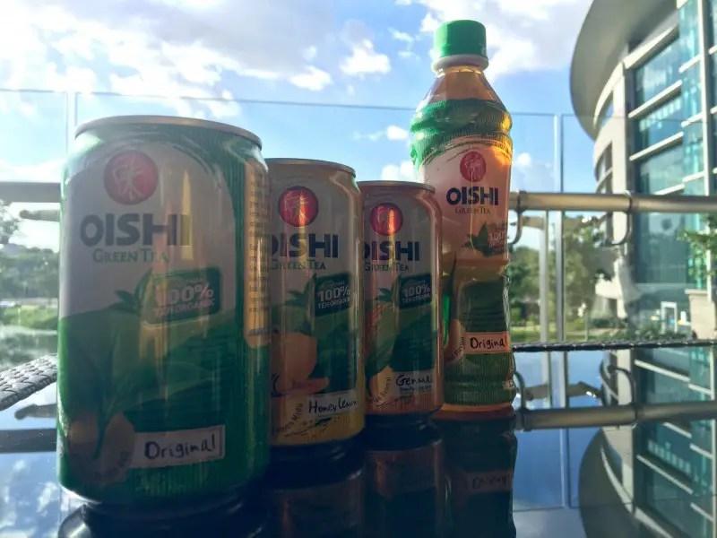 antara perisa OISHI Green Tea