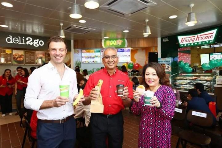 kerjasama bijak antara Shell, Krispy Kreme dan Boost Juice