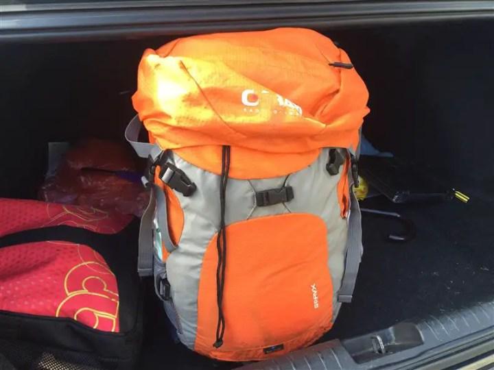 Backpack yang sarat dengan kelengkapan ke Taman Negara
