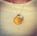 Obsessed with my new necklace-The Gratitude of Lacking Nothing!