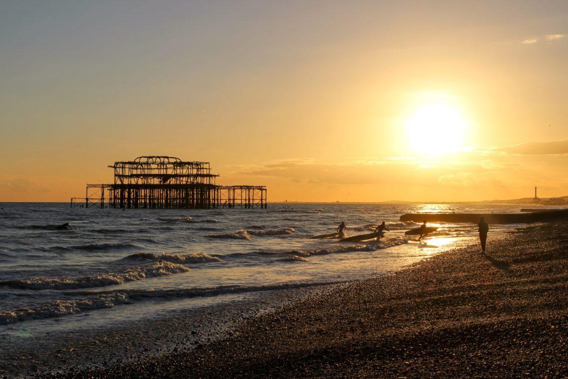 Coucher de soleil à Brighton