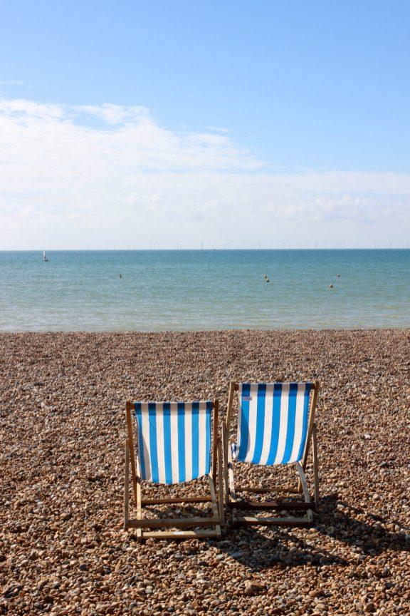 Transat sur la plage de Brighton