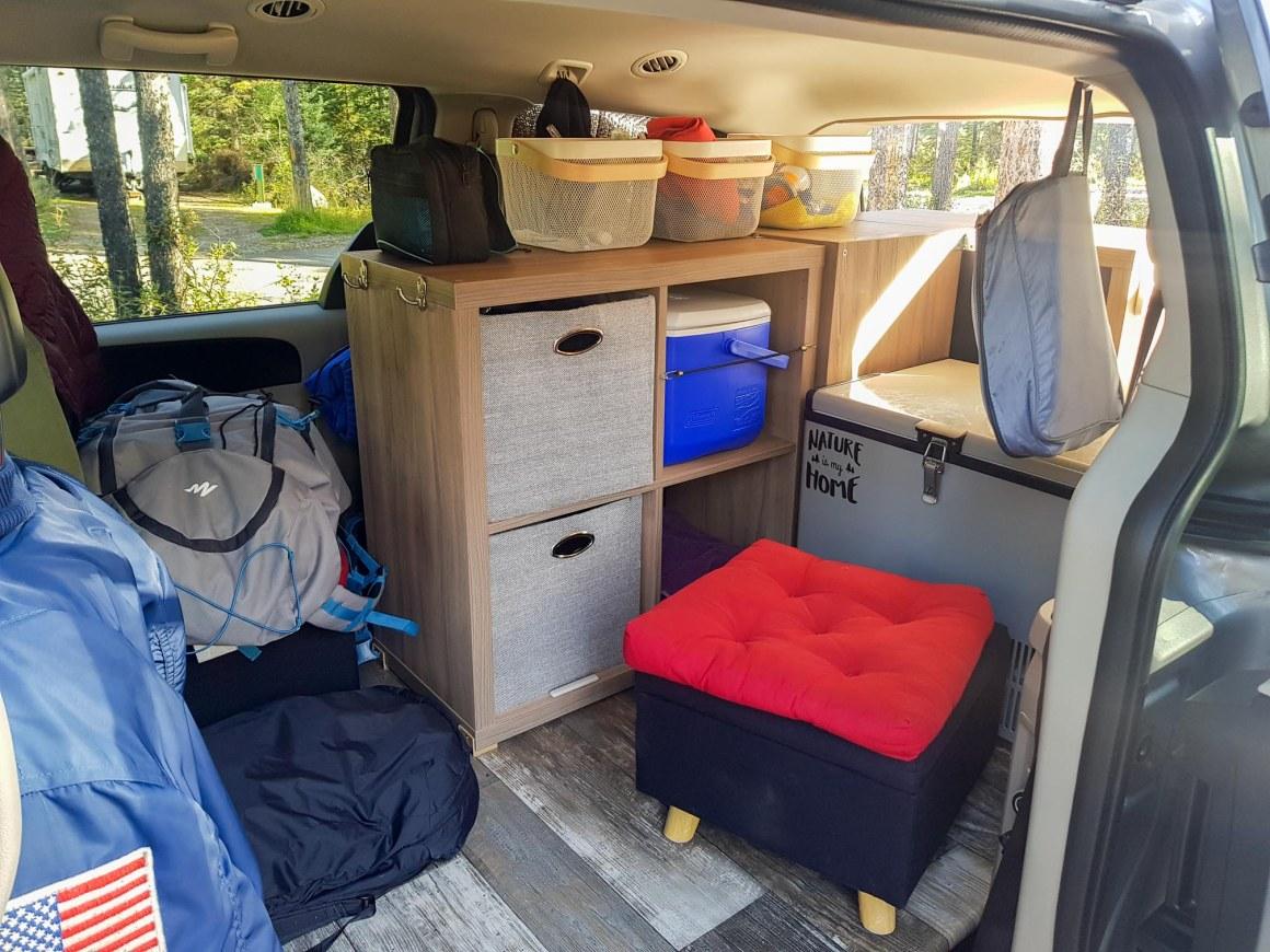 L'intérieur de notre van aménagé