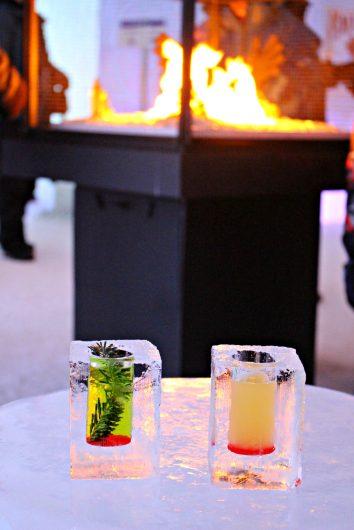 Cocktails au bar de glace