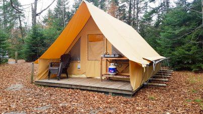Tente Huttopia au Parc National du Mont Tremblant