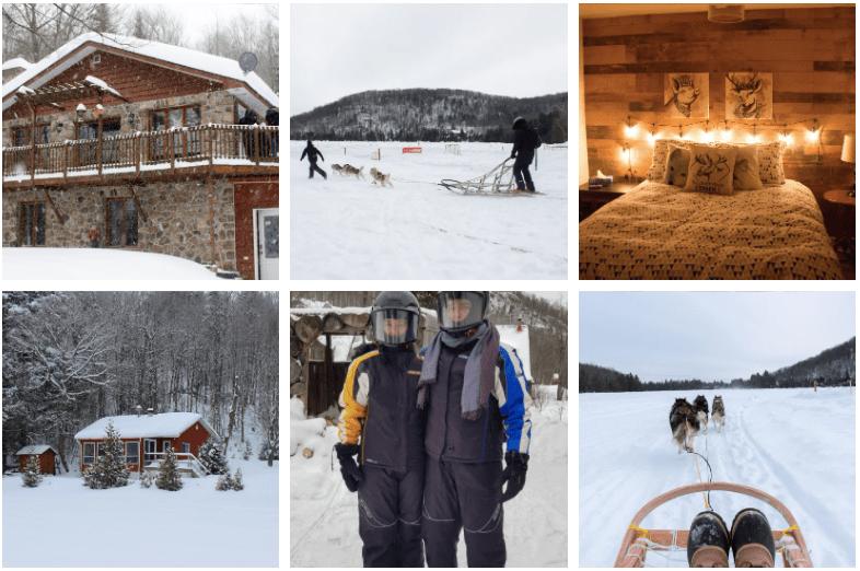 Séjour hivernal en chalet dans les Laurentides