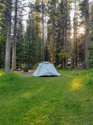 Les emplacements pour tente