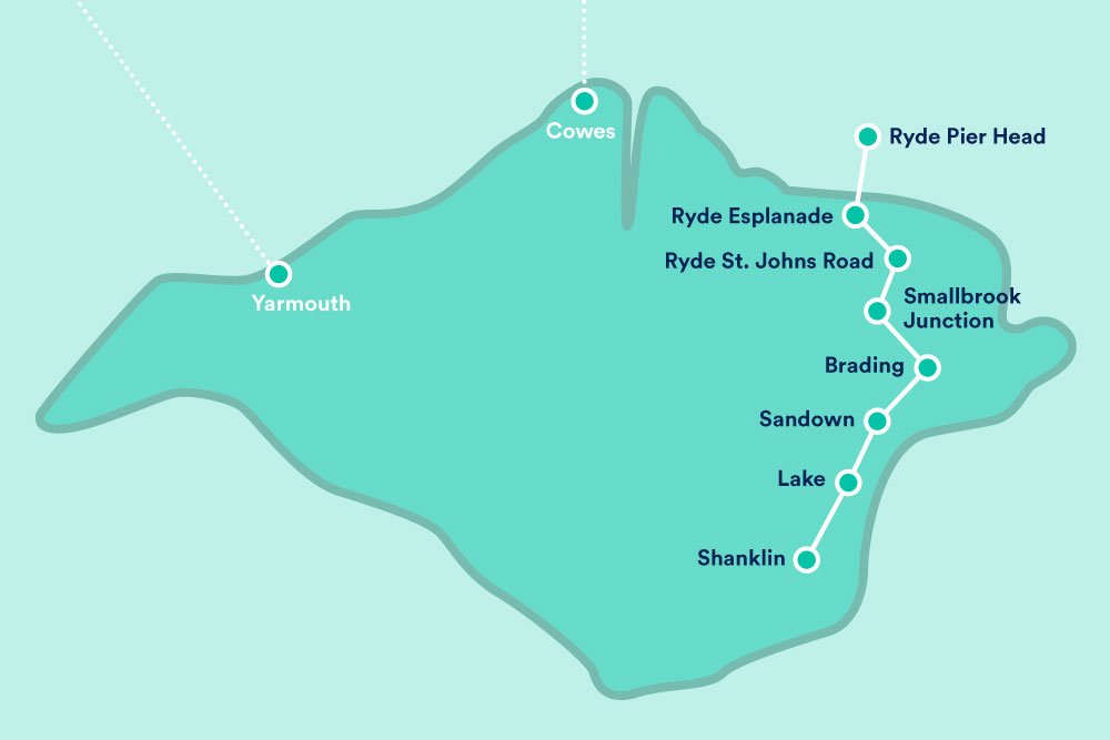 carte train Île e Wight