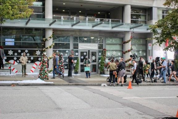 Tournage dans les rues de Vancouver