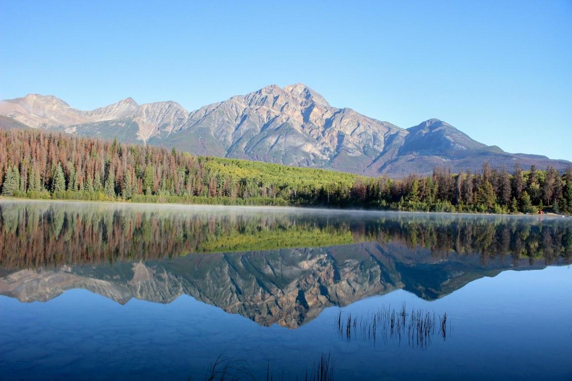Pyramid Lake au Parc National de Jasper