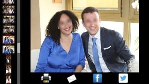 photo box interface photocall mariage