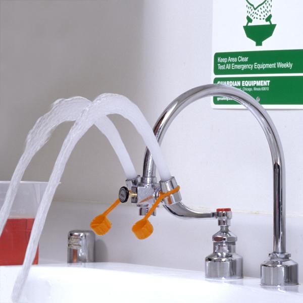 faucet mounted eye wash