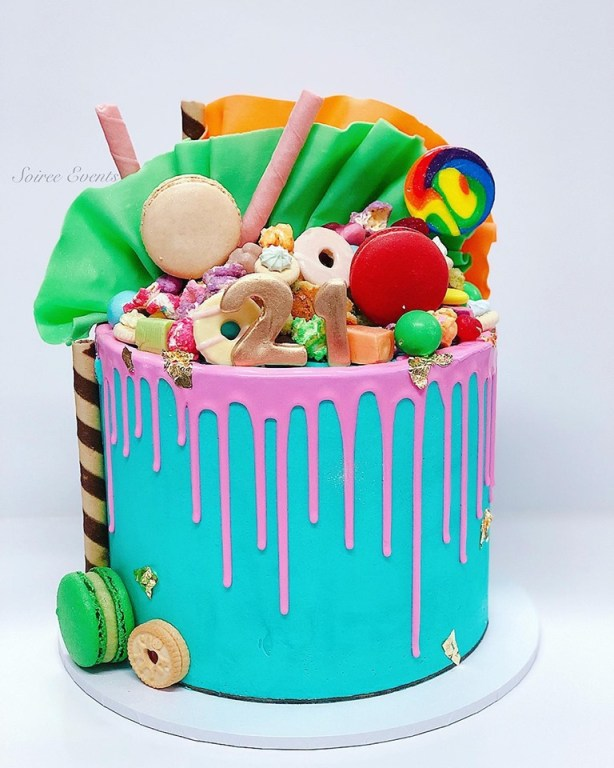 colour pop drip dreamland cake