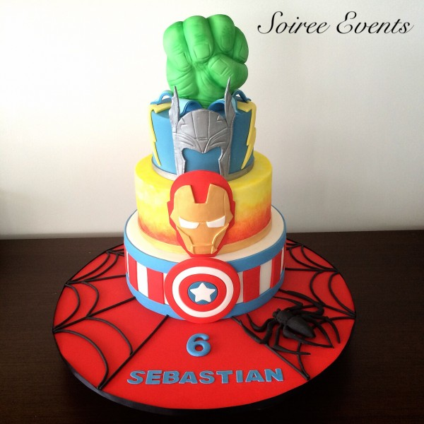 Super Hero Marvel Cake