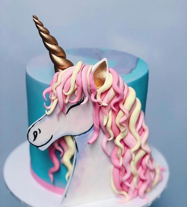 Hand Painted 2D Unicorn