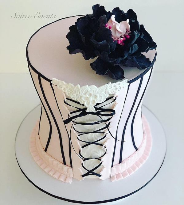 french lace corset cake