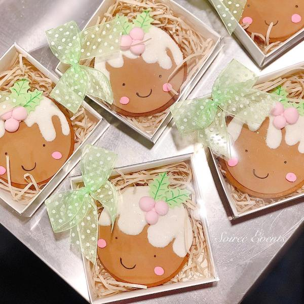 plum pudding xmas gingerbread cookie boxed