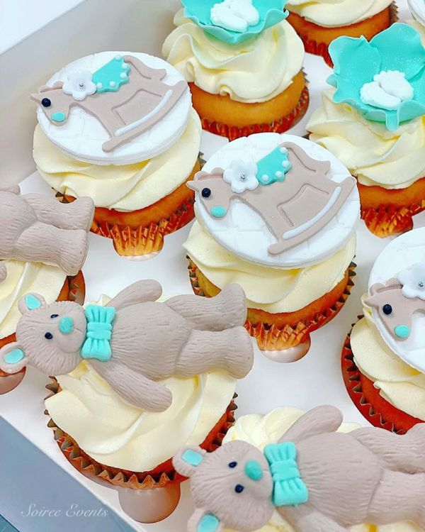 tiffany blue baby shower cupcakes 2
