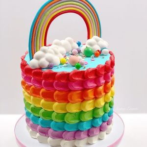 buttercream rainbow cake 3