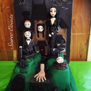 the adams family halloween cake