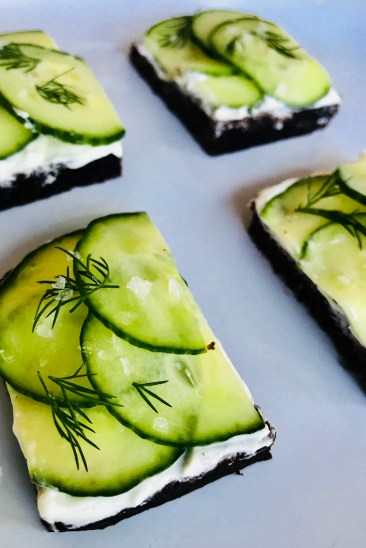 Salted Cucumber Dill Tea Sandwiches