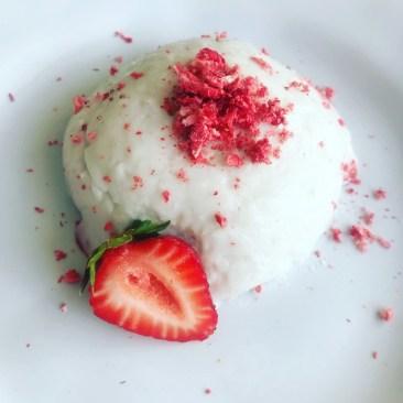 Strawberry Coconut Vegan Panna Cotta