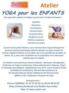Photo flyer Atelier YOGA ENFANT SoiZen