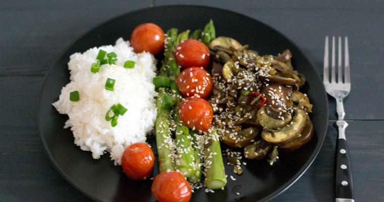 HelloFresh-Highlight KW 22: Spargel mit Jasminreis und gebackenen Kirschtomaten