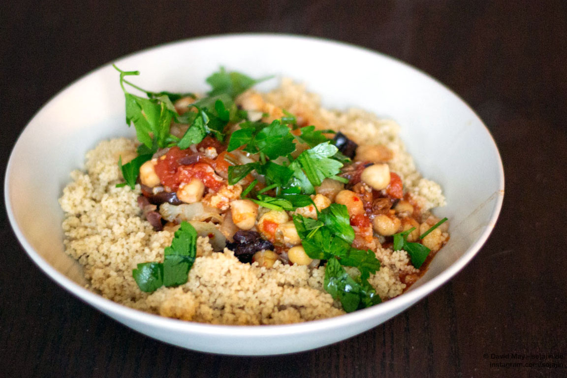 Couscous mit Kichererbsen