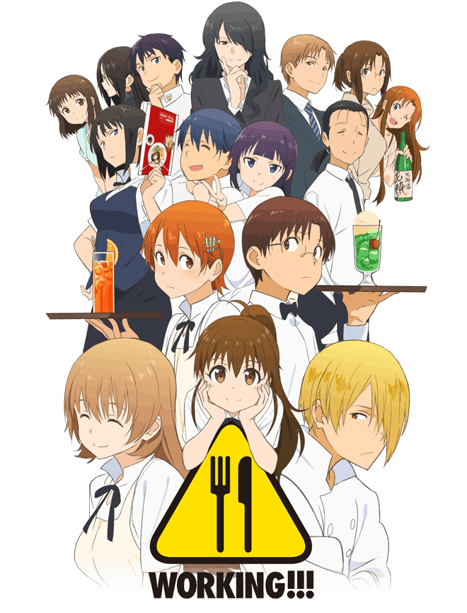 [ANIME] Third season of Working!!! announces premiere date and reveals new key visual