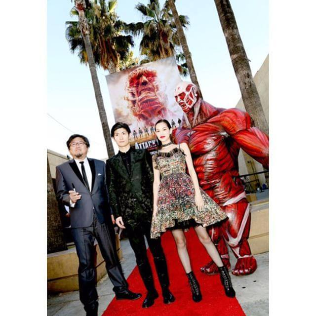 [MOVIE] Titans 'attack' the red carpet as the live-action Attack on Titan movie premieres in Hollywood