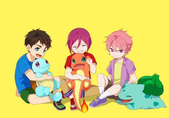[ANIME] What if Free!'s swimmers were Pokemon trainers?