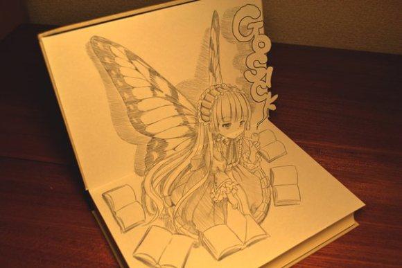 [MANGA] Gosick mangaka creates stunning pop-up artworks
