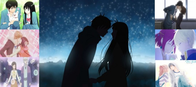 Doki moments shoujo anime collage