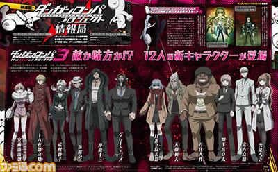 [ANIME] New Danganronpa 3 character visuals reveal 12 new characters