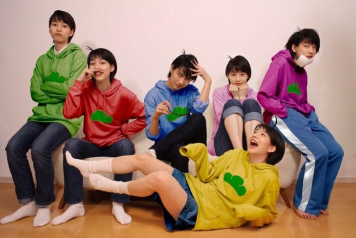 [COSPLAY] Japanese actress, Rena Nounen, cosplays all six sextuplets from Mr. Osomatsu