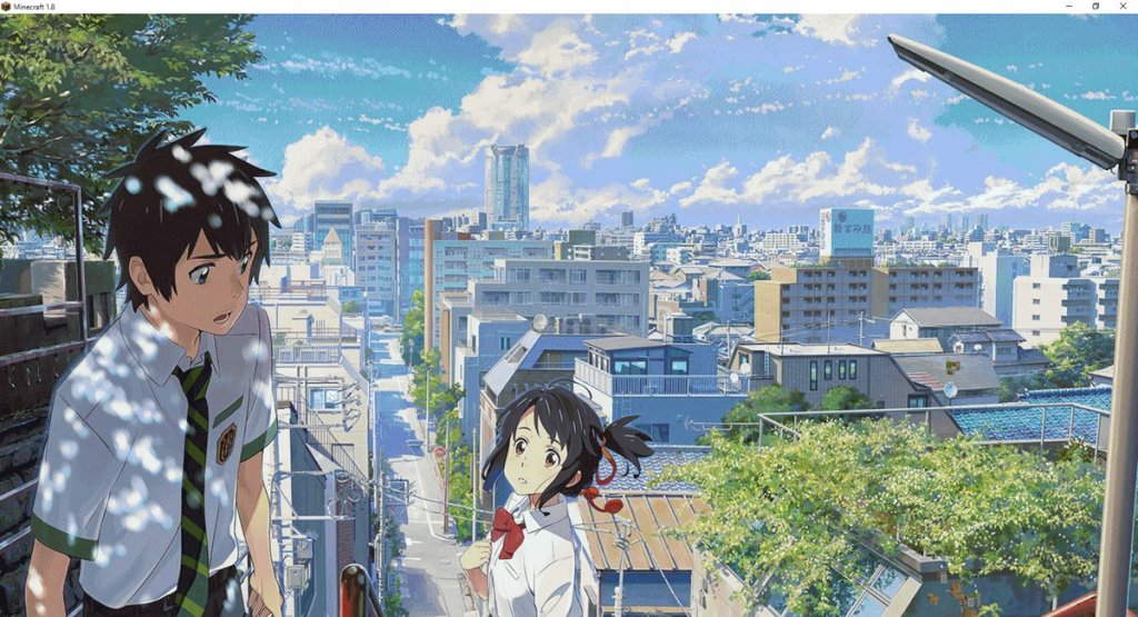 Fan does an epic recreation of Makoto Shinkai's your name. in Minecraft