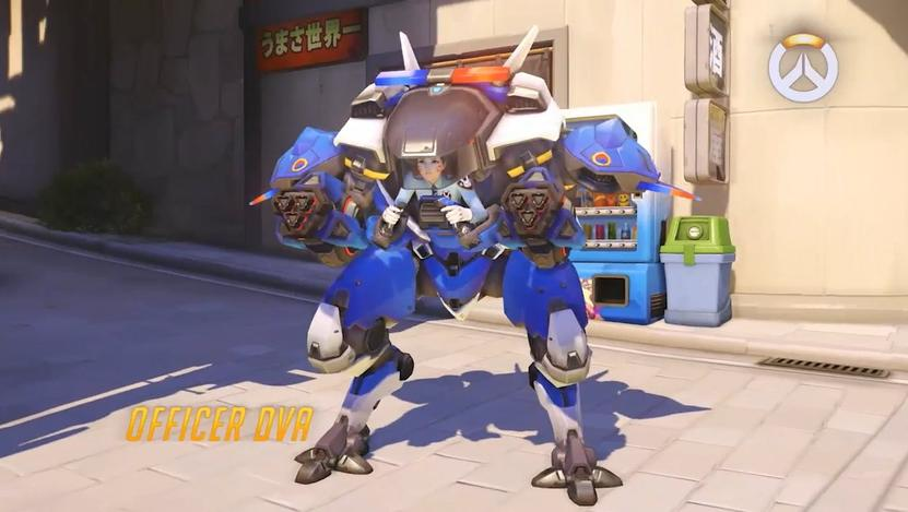 How to get your Officer D.Va Skin