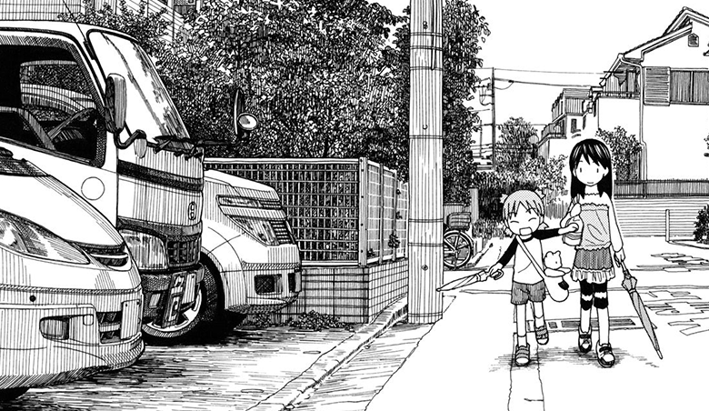 Yotsuba&! mangaka, Kiyohiko Azuma, shows off his urban illustrations of Japan
