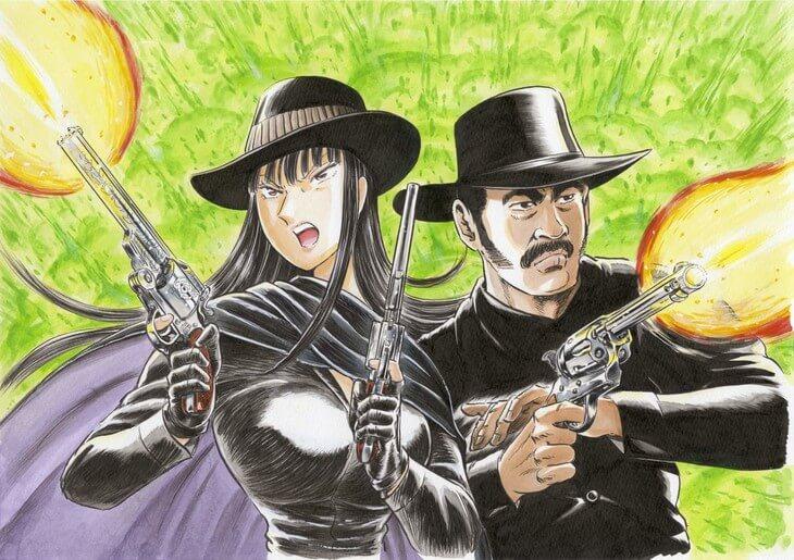 KochiKame and Black Tiger mangaka illustrates Denzel Washington for manga crossover