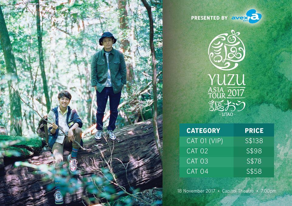 YUZU ASIA TOUR 2017 -UTAO- in Singapore
