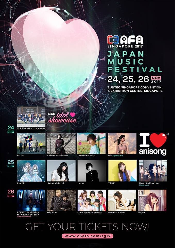 C3 AFA Singapore Reveals Complete I Love Anisong 2017 Line-Up!