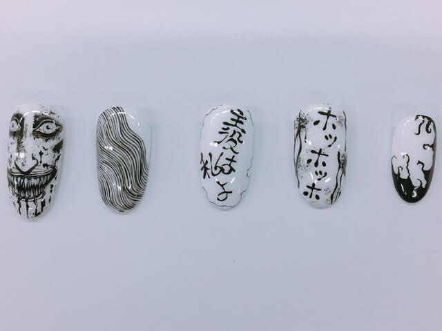 Salon in Akihabara is offering Junji Ito Collection nails