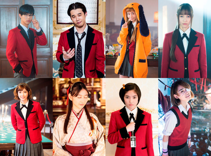 More cast revealed in costume for live-action Kakegurui drama