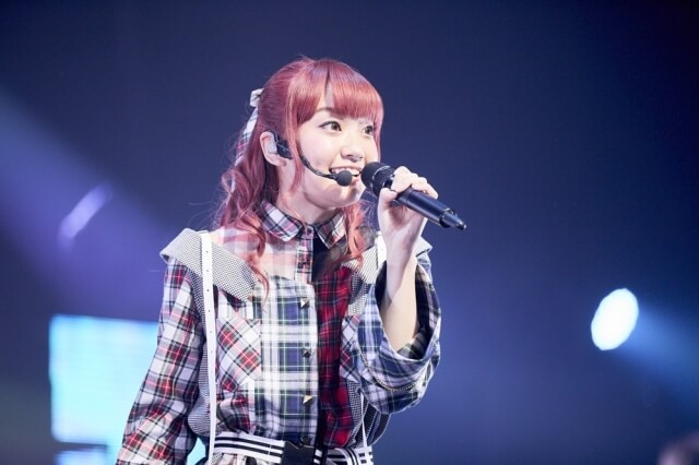 Seiyuu Ayaka Ohashi announces the launch of her official fan club during a solo live