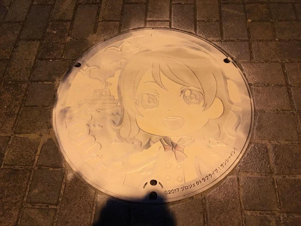Love Live! Sunshine!! Manhole Covers in Numazu Vandalized!