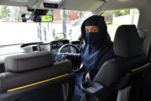 Ninjas become drivers for this Japanese taxi service